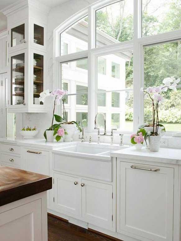 Beyaz Mutfak dolabı modelleri