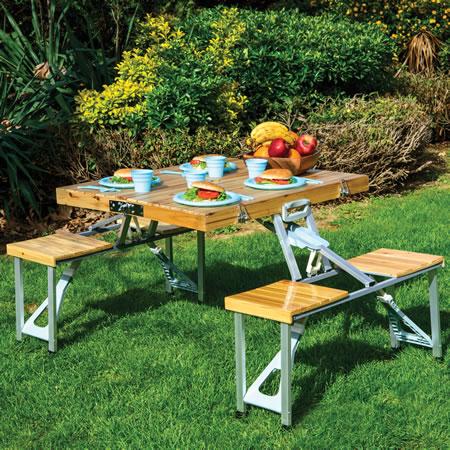 Fonksiyonel ahşap piknik masası