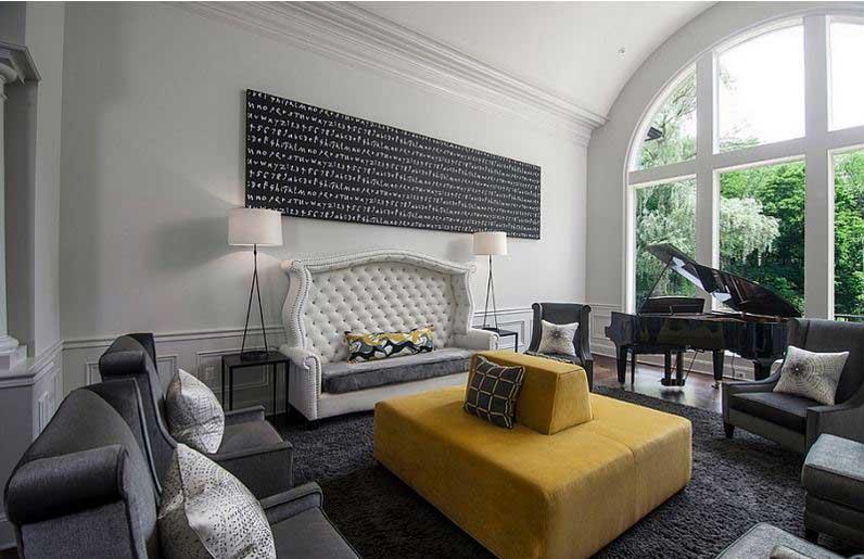 Accented Neutral Interior Design