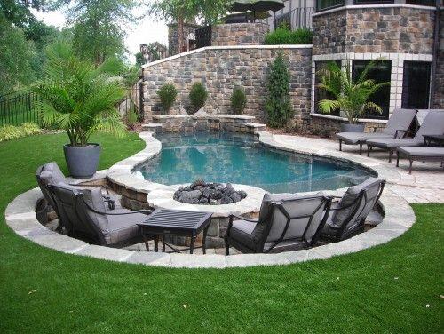 Bah eli ev ve villalara zel havuz tasar mlar detaylar for Pool and firepit design