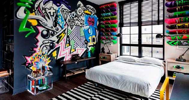 Evde sokak sanatı-dekorasyonu-grafiti