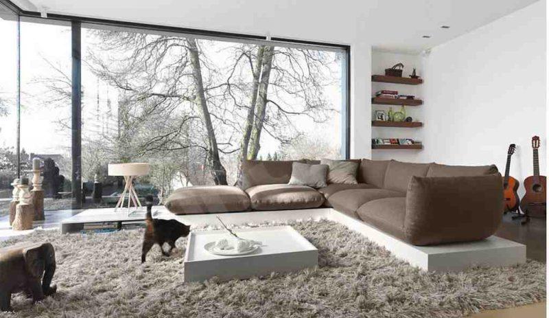 kahverengi oturma odası modelleri
