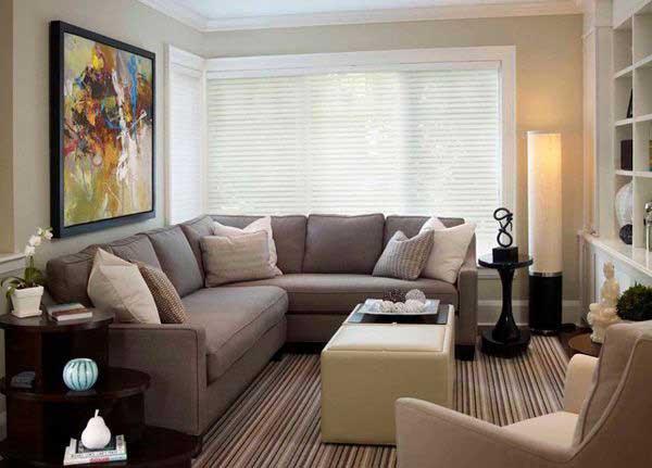 Kahverengi Oturma Odası Dekorasyonu