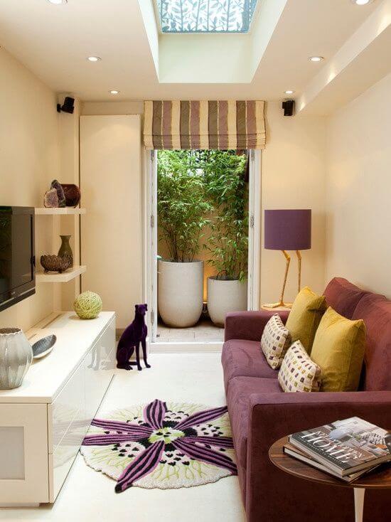 kucuk oturma odası dekorasyon örnekleri
