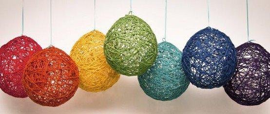 balon ve ipten avize yapımı malzemeleri