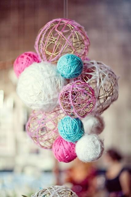 ip ve balondan ev dekorasyon topları nasıl yapılır