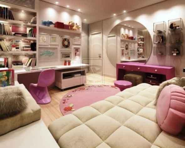 Pembe genç odası dekorasyonu