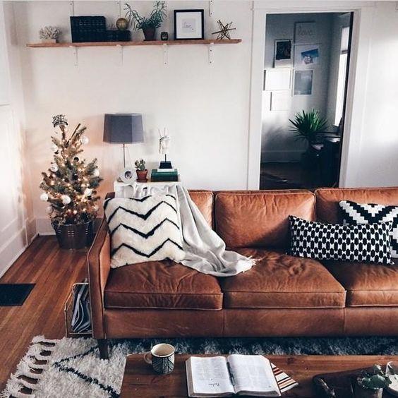 deri koltuk ev dekorasyonu