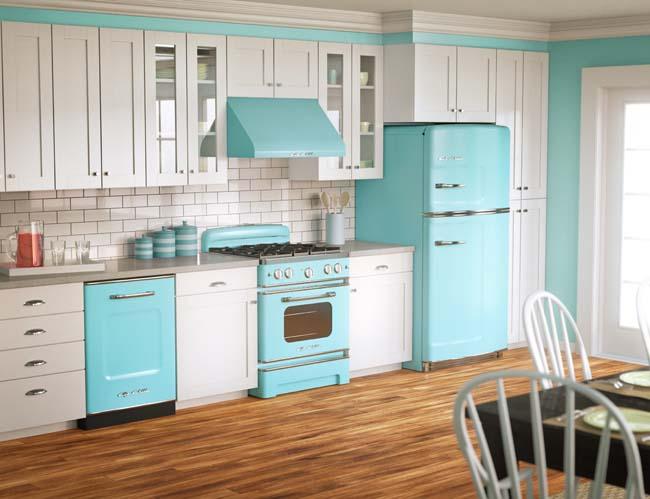Rengarenk son tasarım renkli mutfak 2018