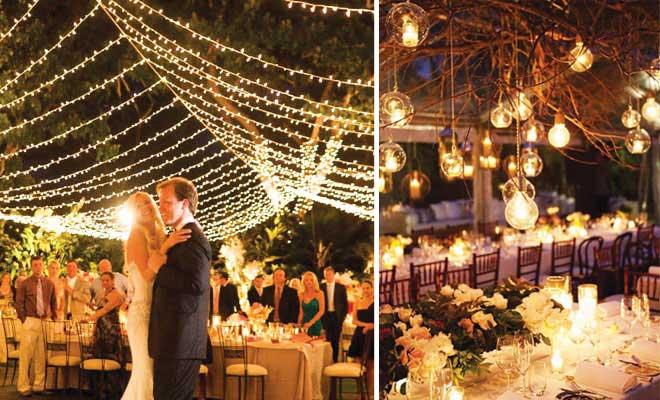 Kır düğün için aydınlatma fikirleri