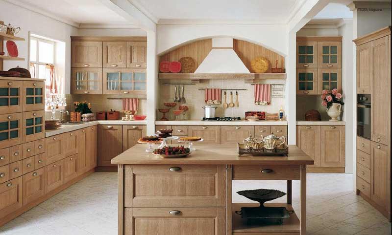 modern ahsap mutfak dekorasyonu