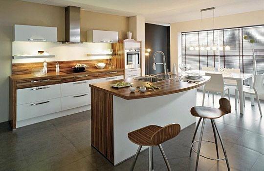 modern tasarımlı ahşap yapılı çağdaş mutfak modeli