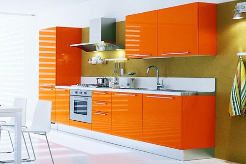 akrilik turuncuı mutfak dolapları modelleri 2018