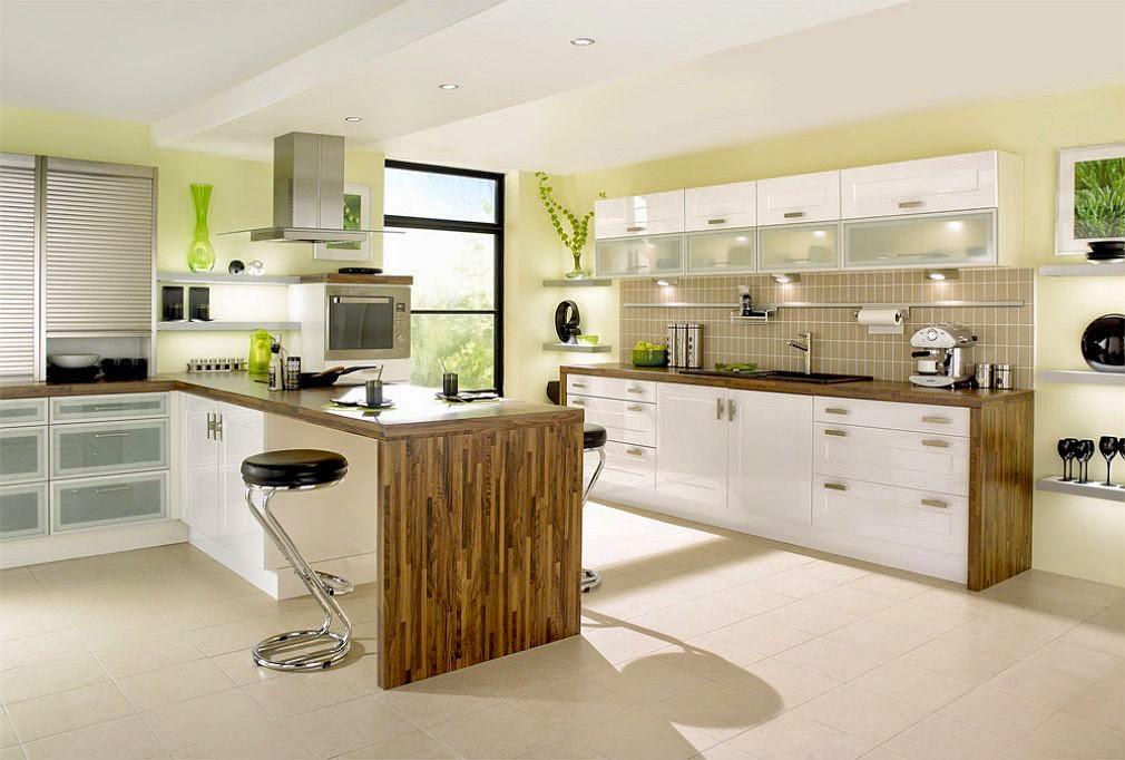 akrilik kahverengi beyaz mutfak dolapları modelleri