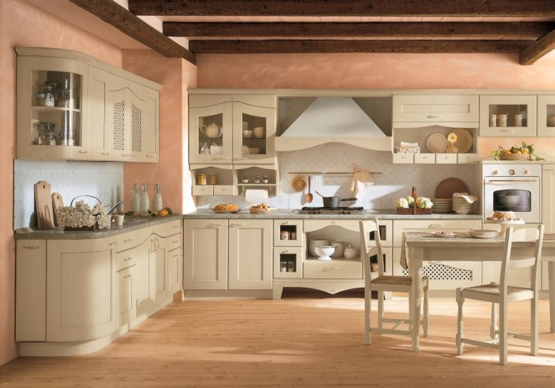 beyaz renkli ahşap italyan tasarım mutfak dekorasyonu