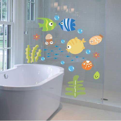 duşakabin için eğlenceli stickerlar