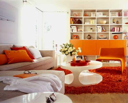 turuncu ev dekorasyon örnekleri