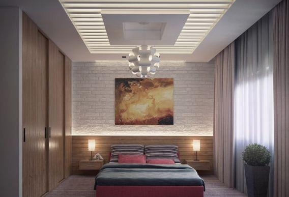 2018 yatak odası aydınlatma