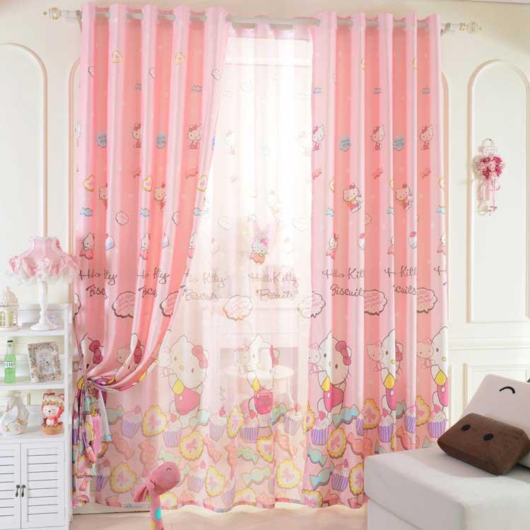 kız çocuk odası için perde modeli