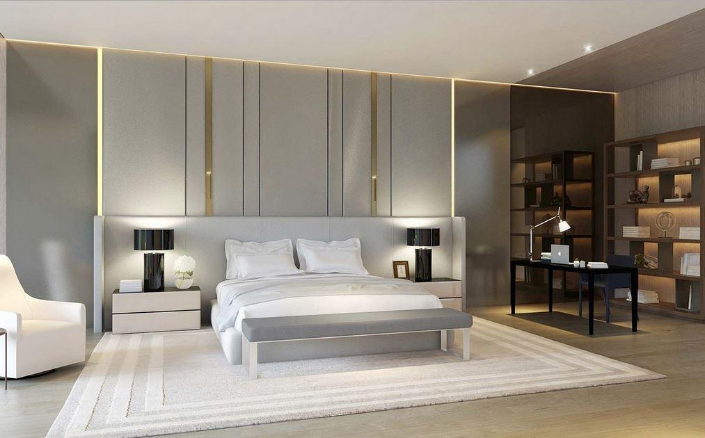 saf ve modern beyaz yatak odalari 2018