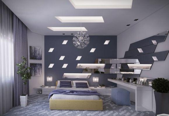 yatak odası icin asma tavan aydinlatma 2018