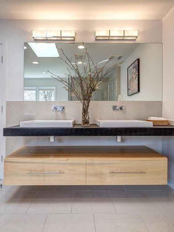 çift lavabo dekorasyonu
