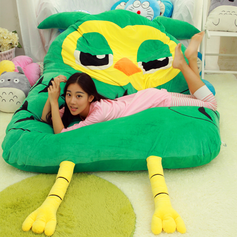 2016-new-green-owl-mattress-mats-sleeping-pad-beanbag-huge-comfortable-cute-font-b-totoro-b