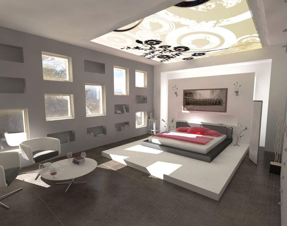 ev-dekorasyonu-yatak-odalari-gri-ve-beyaz-renkleriyle-cok-sade-bir-o-kadarda-lux-yatak-odasi