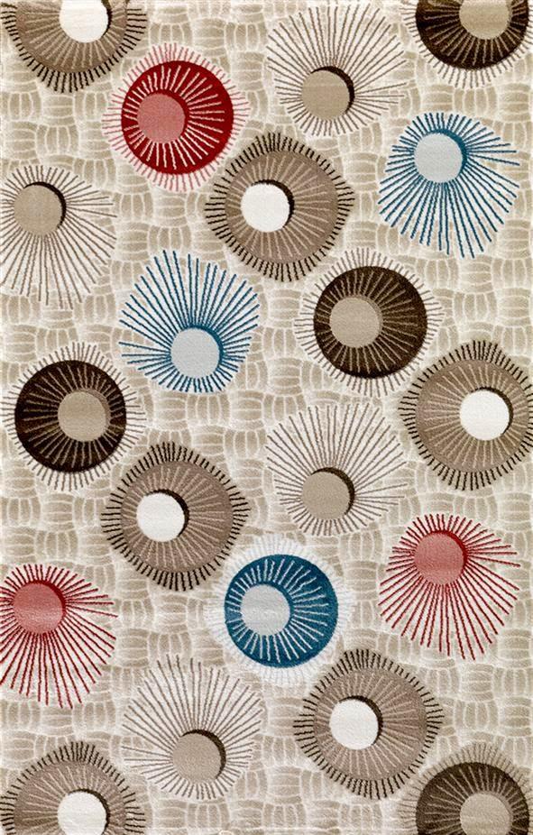 Padişah Meral 13580-060 geometrik şekillerle halı modeli
