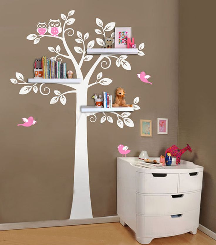 çocuk odası dekoratif raf tasarımları