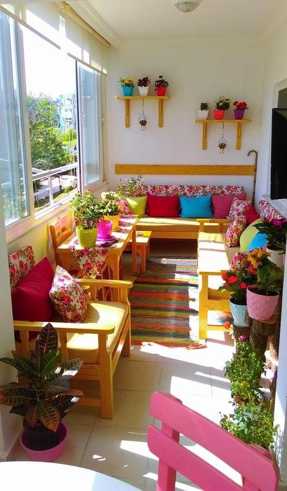 Kucuk Balkon Dekorasyonu Decobaz