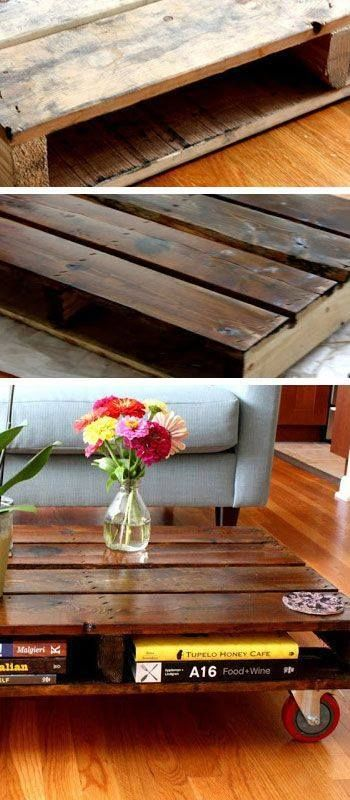 Ahşap paletlerle mobilya yapımı