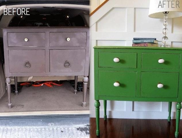 Eski-çekmecenin-ahşap-boyama-ile-yenilenmesi nasıl oluyormuş bakın