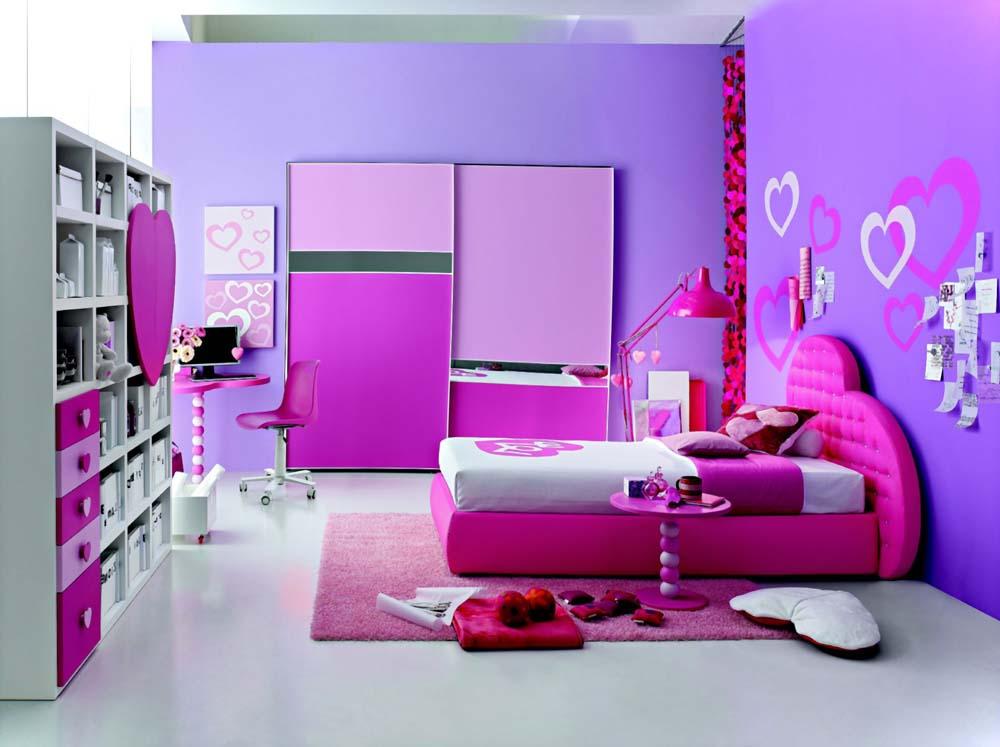 Genç kız odası dekorasyonları ,