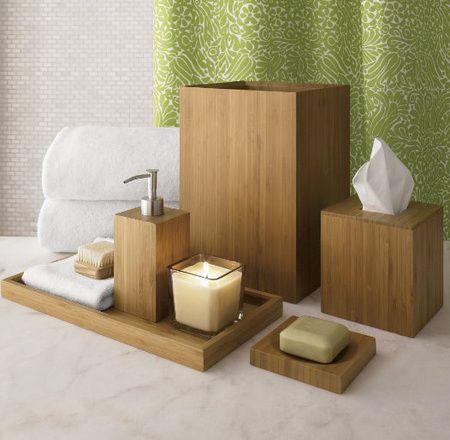 ahşap banyo dekorasyon ögeleri