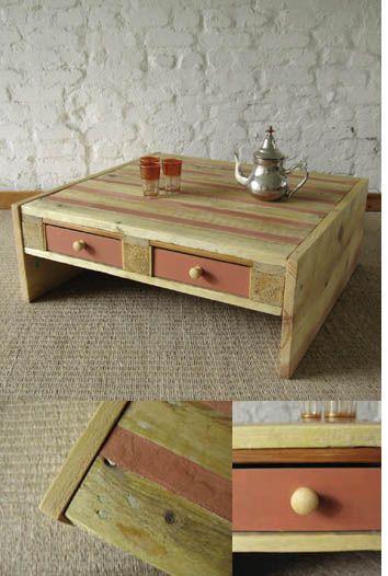 ahşap paletlerle mobilya yapılışı