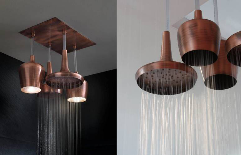 su ve ışık olan duş başlıkları