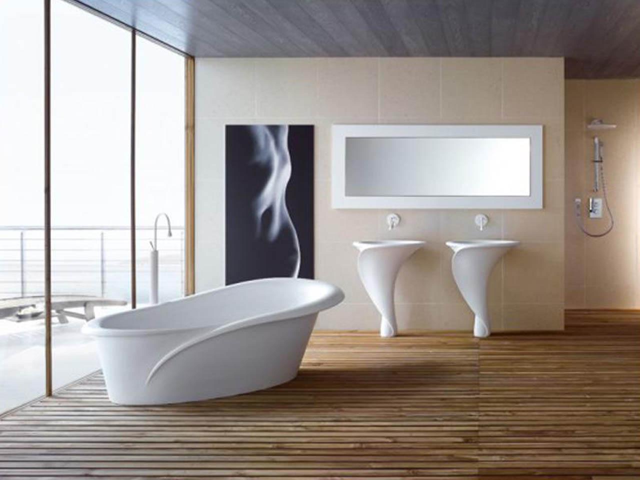 İtalyan tarzı banyo dekorasyonu örneği
