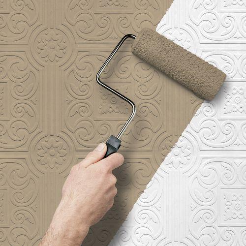 Kabartma Desenli Boyanabilen Duvar Kağıtları (4)