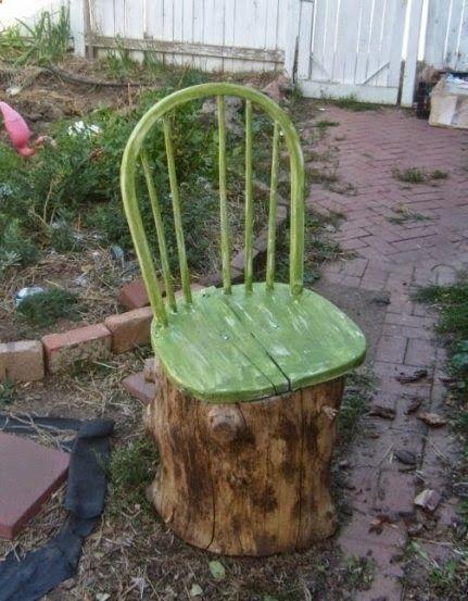 ,ağaç kütüğünden bahçe aksesuar yapımı