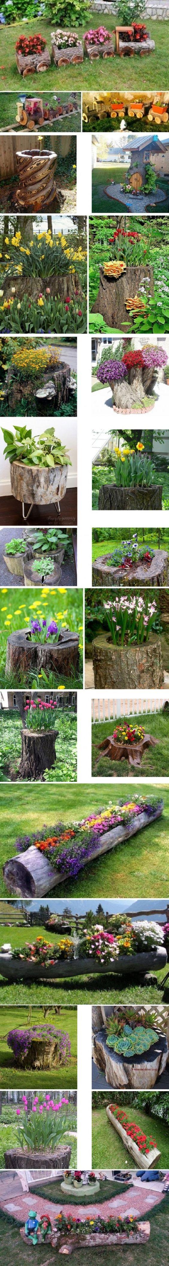 ağaç kütüğünden bahçe aksesuarları yapımı