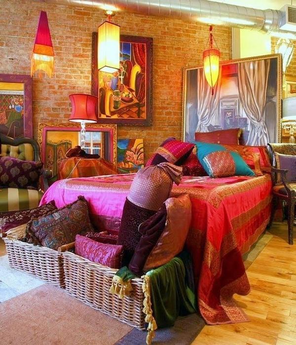 Bohem tarzı yatak odası modelleri