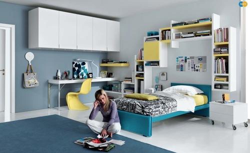 mavi genç odası takımı modelleri