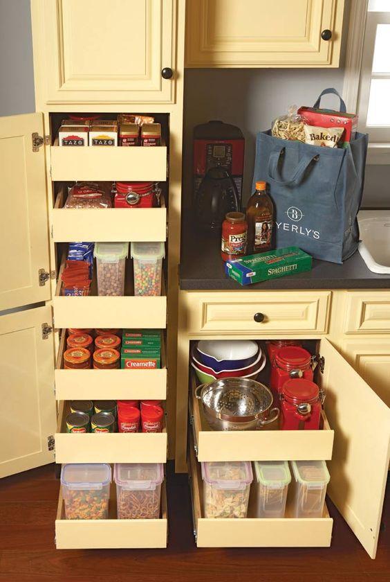 mutfak dolap içi düzenleme