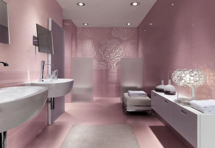 modern şık trend banyo dekorasyonları