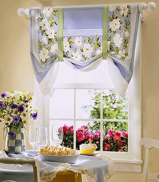 Çiçekli Perdelerle Mutfağınızı Süsleyin (5)