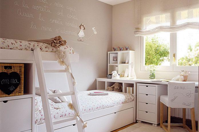 şık kız çocuk odası dekorasyonları