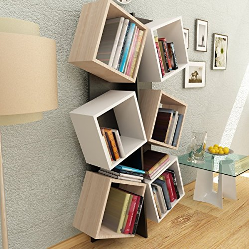 Modern Kitaplık Modeli Tekzen