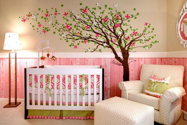 ağaç figürlü çocuk odası
