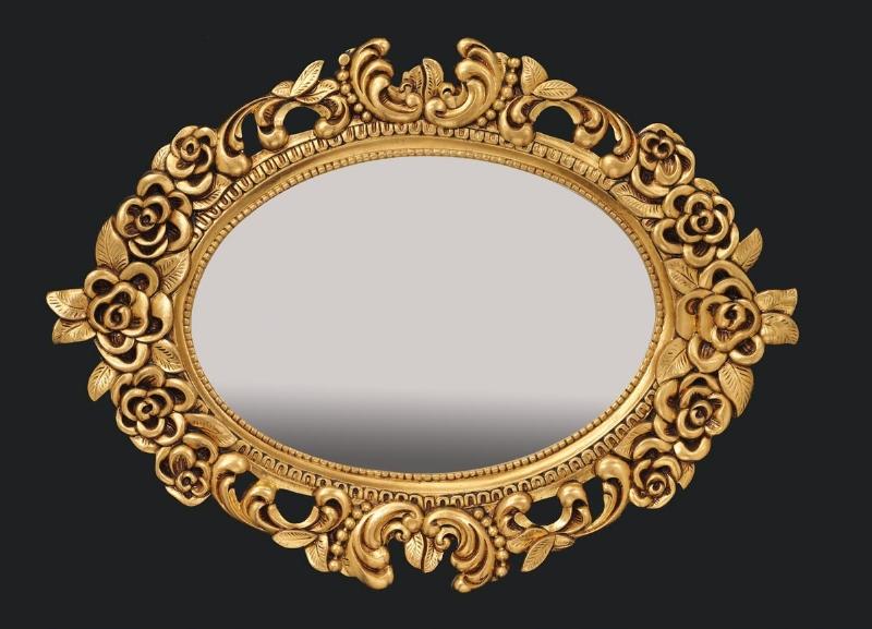 Dekoratif altın yaldızlı aynalar